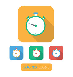 sport timer on competitions vector image