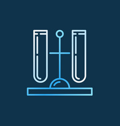 test tubes on holder outline colored icon vector image