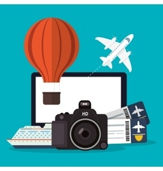 Transportation and travel design vector