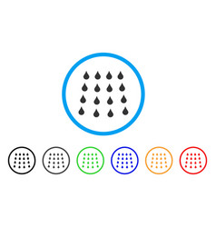 water drops rounded icon vector image