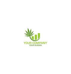 Weed accounting logo design vector