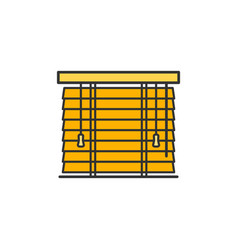 Wooden shutters blinds and horizontal jalousie vector