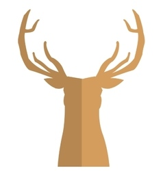 deer silhouette icon vector image