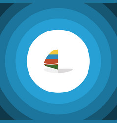 isolated sailboard flat icon surfing vector image