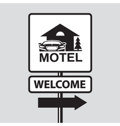 motel road sign vector image