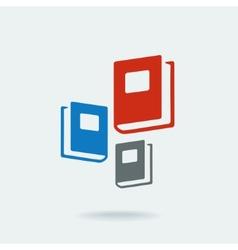 Symbol of education three books vector image