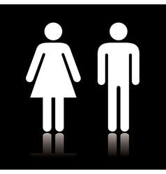Toilet icon negative vector image vector image