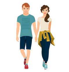 young couple in sport style outfit vector image vector image