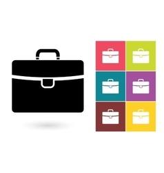 Briefcase icon or business briefcase symbol vector image