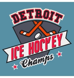 Detroit ice hockey champs vector image vector image