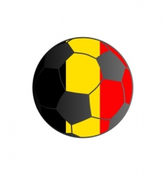 flag of Belgium and soccer ball vector image