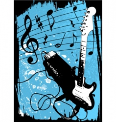 grunge guitar and amplifier vector image vector image