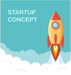 Start up concept flat style vector image vector image
