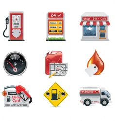 vector gas station icon set vector image vector image