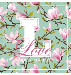 Vintage Colorful Flowers Graphic Design vector image