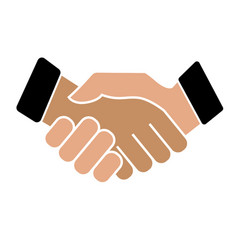 business handshake icon on white background vector image vector image