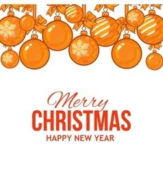 Gold Christmas balls with ribbon and bows vector image vector image