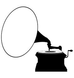 Gramophone silhouette vector image