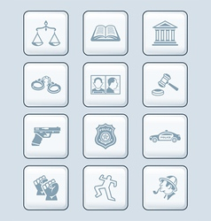 Law and order icons - TECH series vector image