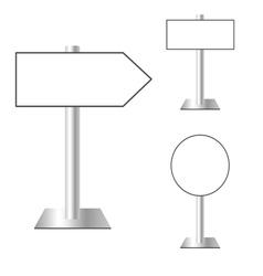 signboard set vector image vector image