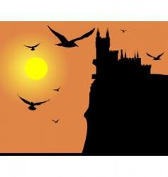Bird sunset vector image vector image