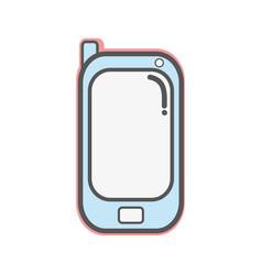contour smartphone technology connect transaction vector image