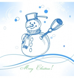 funny snowman vector image