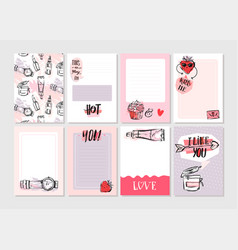 hand drawn abstract creative girlie vector image