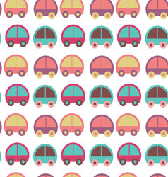 seamless pattern with colorful cars vector image