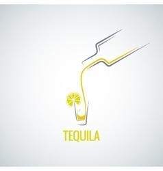 tequila shot bottle glass menu background vector image vector image