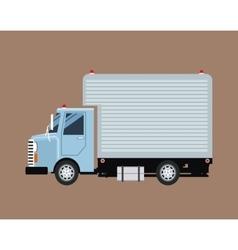 truck mini cargo service transport vector image