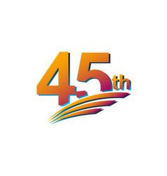 45 th anniversary elegant celebration template vector
