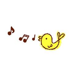 A singing bird vector