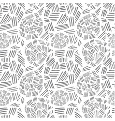 Abstract monochrome seamless pattern with curved vector