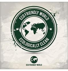 Alternative eco world stamp vector