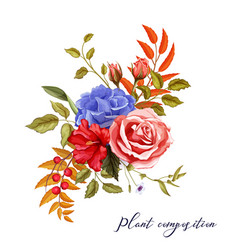 autumn spring summer flower rose bouquet vector image