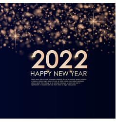 banner happy new year 2022 with gold dust vector image