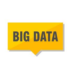 Big data price tag vector