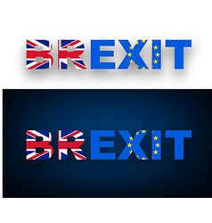 Brexit banner with flags vector image