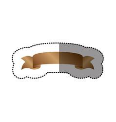 Brown long ribbon icon vector