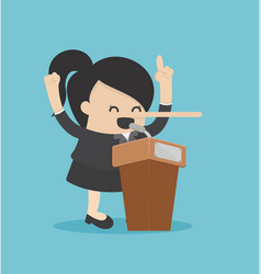 Business concept cartoon businesswoman with long vector