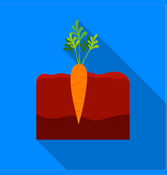 carrot icon flat single plant icon from the big vector image