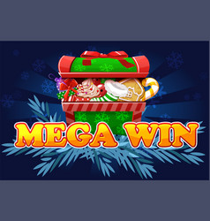 Christmas mega win screen background for 2d game vector