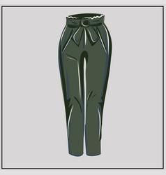 classic green pants khaki oversize fashion vector image