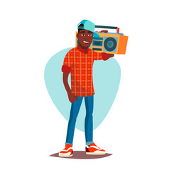 Classic rapper man modern musician flat vector