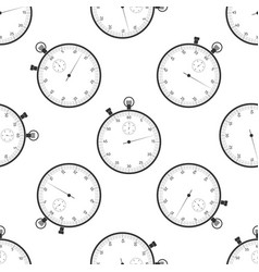 classic stopwatch icon seamless pattern vector image