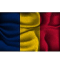 crumpled flag of Chad on a light background vector image