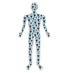 Cup human figure vector