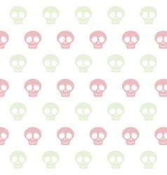 cute skull pattern vector image
