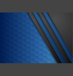 Dark blue abstract corporate tech background vector